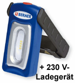 Berner POCKET deLUX BRIGHT LED-Arbeitsleuchte, Werkstattlampe + USB Ladekabel