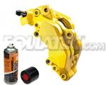 Foliatec Bremssattellack-2K-Spray/Bremssattel-2K-Lackspray GELB, 400 ml