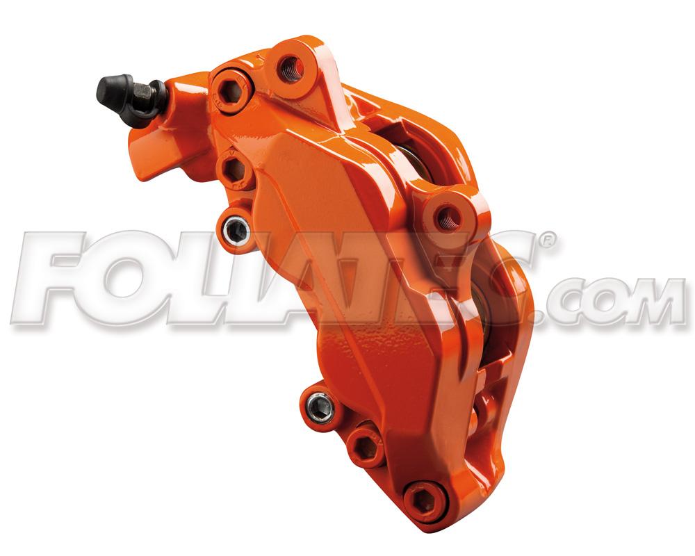 Foliatec Bremssattellack-Set flame orange (Lack + Bremsenreiniger)