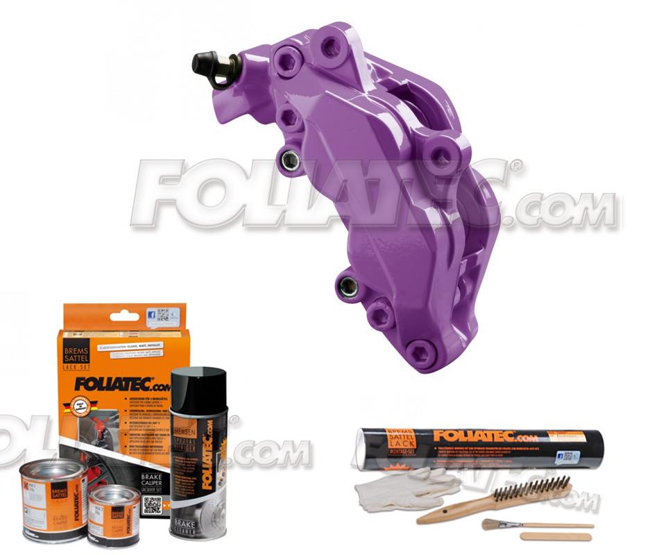 Foliatec Bremssattellack-Set deep violet/violett/lila + Montageset