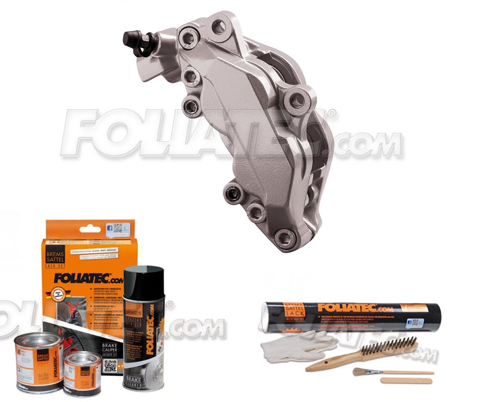 Foliatec Bremssattellack-Set elephant grey metallic/elefantengrau + Montageset