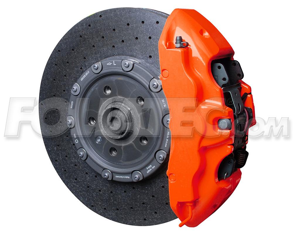 Foliatec Bremssattellack-Set NEON orange glänzend + Montageset