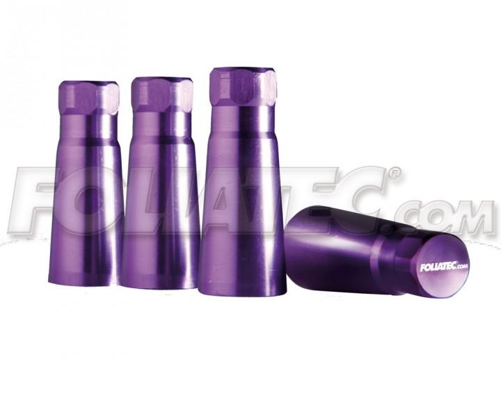 Foliatec AIRCAPS-Cover Ventilkappen violett Aluminium
