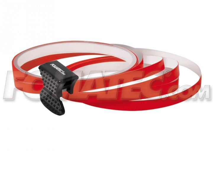 Foliatec PIN-STRIPING FelgenDesign Zierstreifen 4 Stk. rot