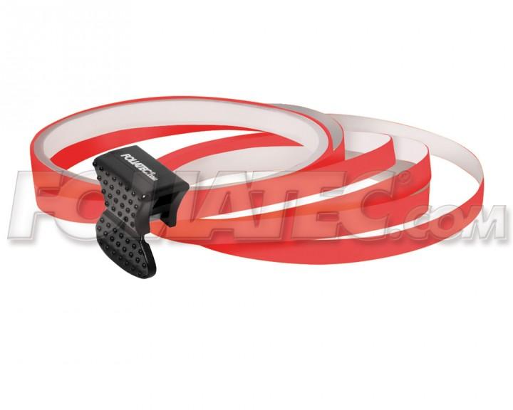 Foliatec PIN-STRIPING FelgenDesign Zierstreifen 4 Stk. neon-rot
