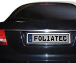 Foliatec SWISS KLICK Kennzeichenrahmen gold 53,5x12,5x2,5cm