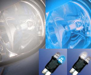Foliatec LED CockpitLight DualLight Effekt Beleuchtung T10 blau-weiß