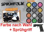 Foliatec SPRÜHFOLIE Farbe nach Wahl + Sprühgriff/Sprühpistole