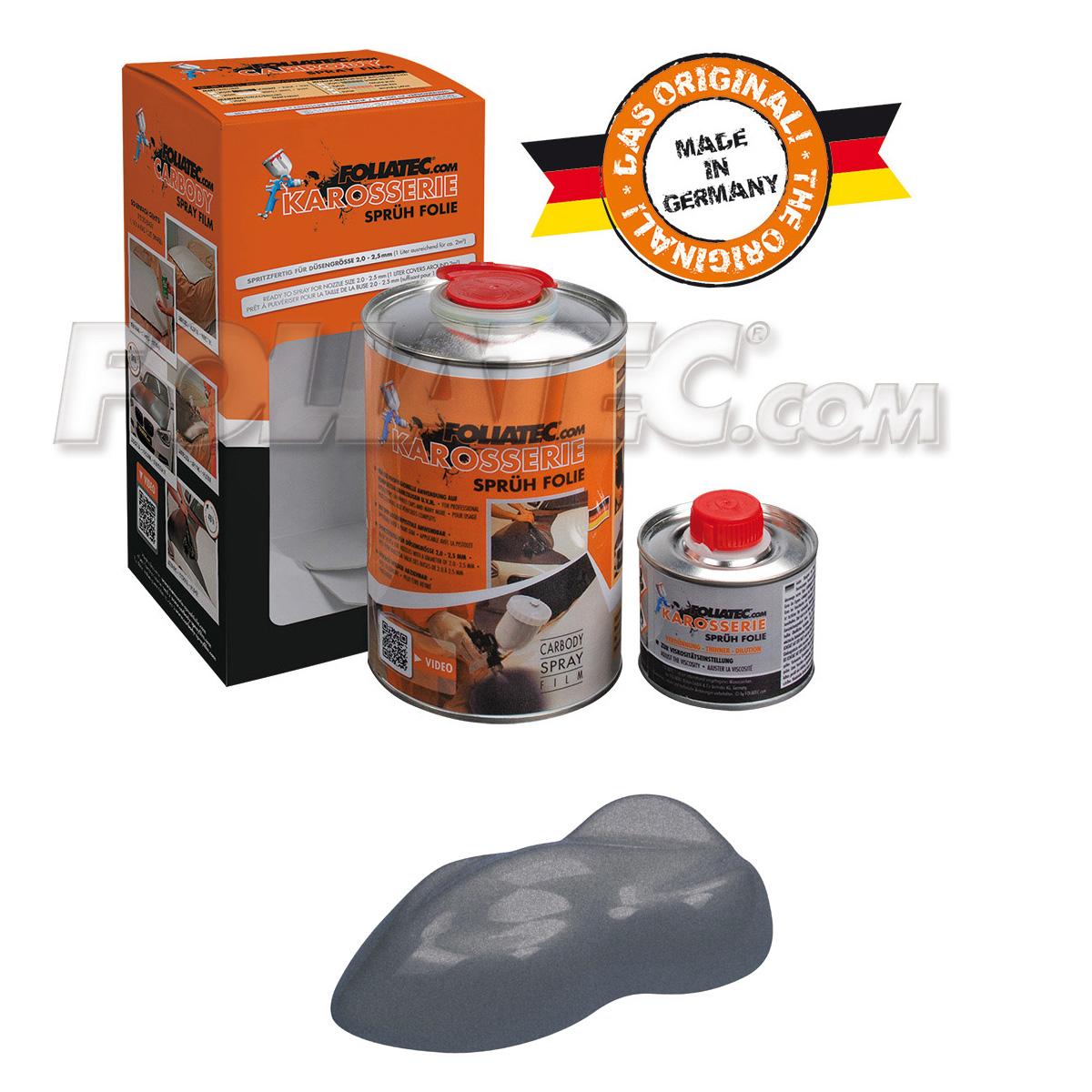 Foliatec Karosseriesprühfolie/Karosserie-Sprühfolie gunmetal grey/eisengrau