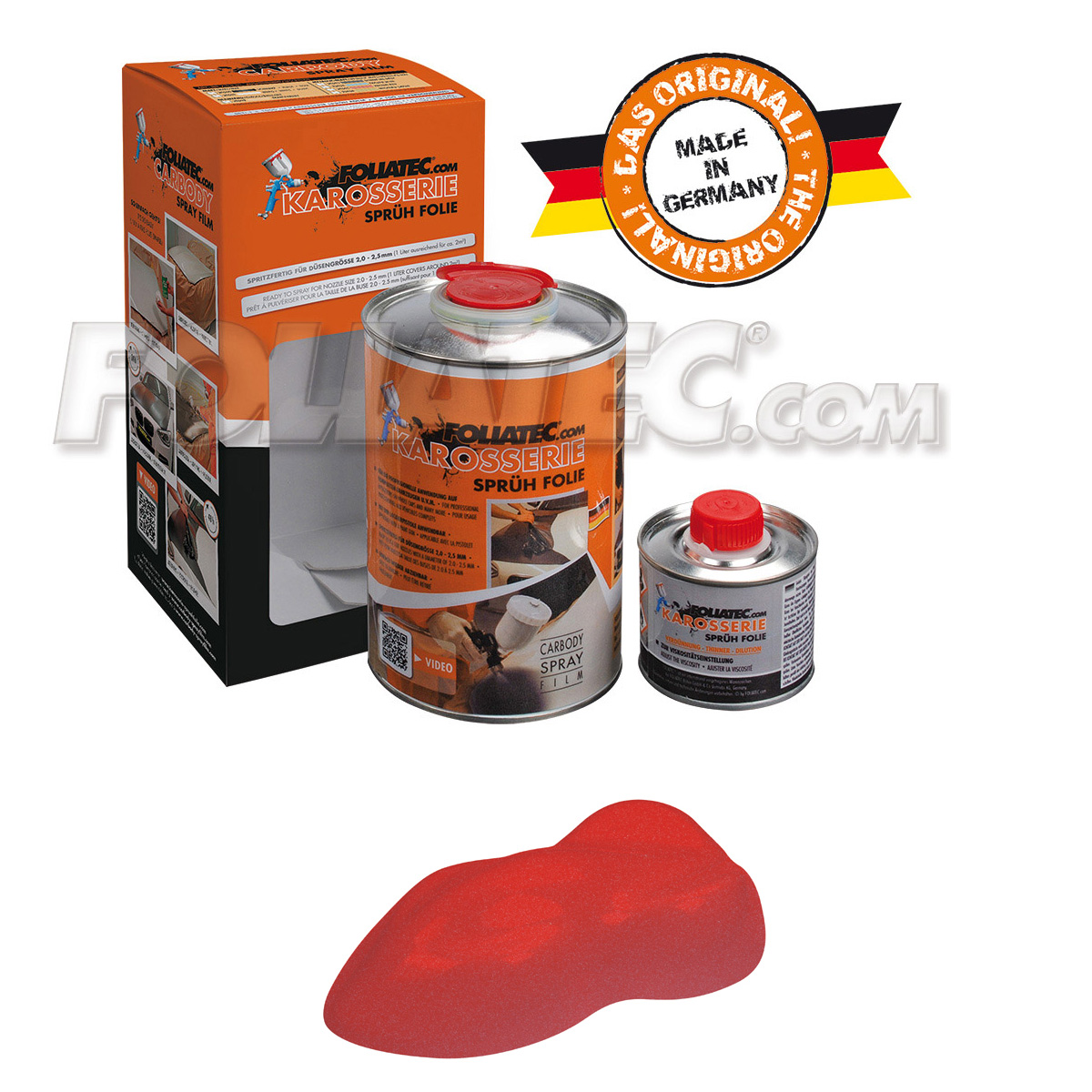 Foliatec Karosseriesprühfolie/Karosserie-Sprühfolie racing red/rossorot matt