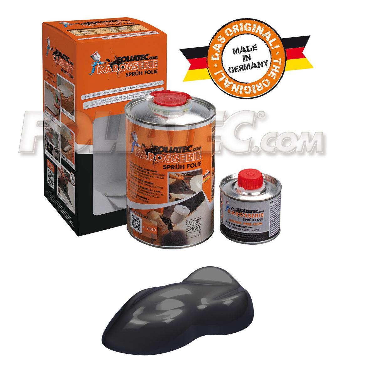 Foliatec Karosseriesprühfolie/Karosserie-Sprühfolie schwarz/black matt