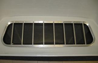 Frontfenster mit Aluschutzrahmen für Hardtop, E-glass