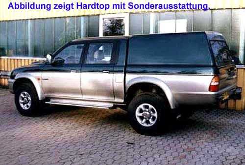 "Hardtop ""Beltop Classic"" Mitsubishi L200 Doppelkabine 97-06"