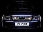 in.pro. Edelstahl-Grill-Leisten/Grillleisten Audi A4 -11/00, verchromt/Chrom