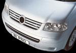 in.pro. Edelstahl-Grill-Leisten/Grillleisten VW T5 Multivan, verchromt/Chrom