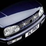 in.pro. Edelstahl-Grill-Leisten/Grillleisten VW Golf III/3, verchromt/Chrom