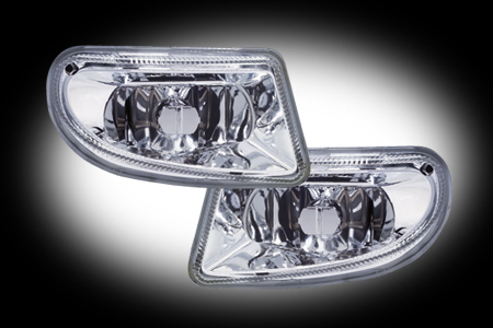 in.pro. Klarglas-Nebelscheinwerfer Mercedes E-Klasse W210 ab 2000 klar/Chrom
