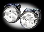 in.pro. LED-Klarglas-Tagfahrlicht universell rund 90mm