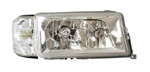 Klarglas-Scheinwerfer Mercedes W201 190 Chrom +Blinker