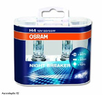 Osram NIGHT BREAKER H4 Duo-Pack +90% Licht