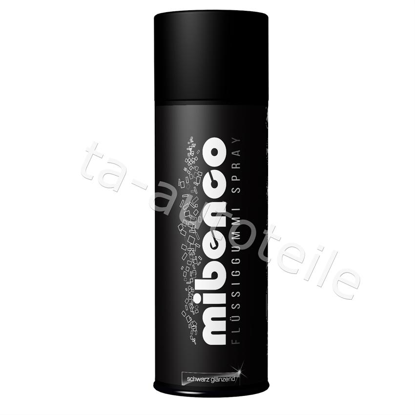 Mibenco SPRÜHFOLIE Felgenfolie Flüssiggummi schwarz glänzend 1x400ml