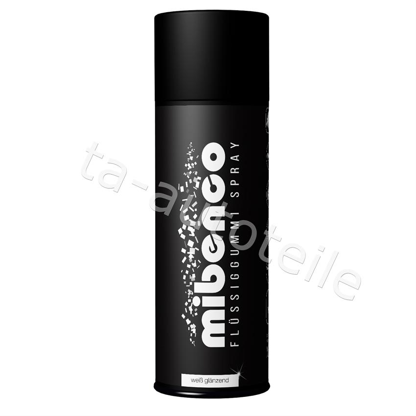 Mibenco SPRÜHFOLIE Felgenfolie Flüssiggummi weiß glänzend 1x400ml
