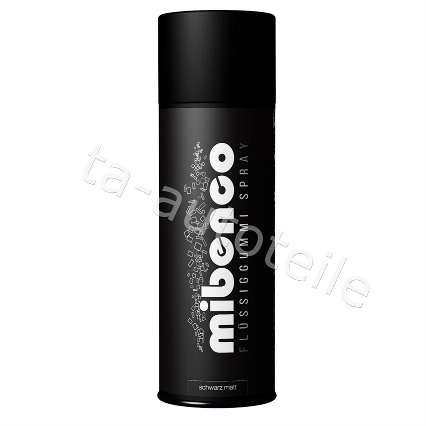 Mibenco SPRÜHFOLIE Felgenfolie Flüssiggummi schwarz matt 1x400ml