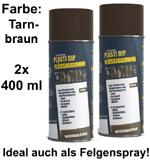 Plasti Dip it SPRÜHFOLIE Felgenfolie Flüssiggummi Tarnfarbe braun 2x 400ml