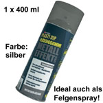 Plasti Dip it SPRÜHFOLIE Felgenfolie Flüssiggummi silber metallic 1x 400ml