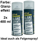 Plasti Dip it SPRÜHFOLIE Felgenfolie Flüssiggummi Glanzeffekt 2x 400ml