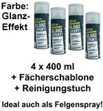 Plasti Dip it SPRÜHFOLIE Felgenfolie Flüssiggummi Glanzeffekt 4x 400ml