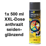 raid hp Sprühfolie/Felgenfolie anthrazit seidenglanz glänzend 1x 500 ml