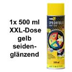 raid hp Sprühfolie/Felgenfolie gelb seidenglanz glänzend 1x 500 ml