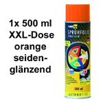 raid hp Sprühfolie/Felgenfolie orange seidenglanz glänzend 1x 500 ml