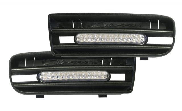Raid Dino LED Tagfahrlicht/Tagfahrleuchten VW Golf 4/IV 24 LEDs +Blende