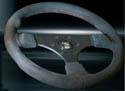 Raid hp Sportlenkrad/Lenkrad ALCANTARA schwarz mit roter Naht, Ø 280-340mm